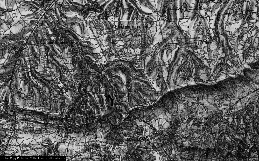 Old Map of Woldingham, 1895 in 1895