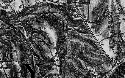 Old map of Woldingham in 1895