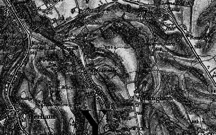 Old map of Woldingham Garden Village in 1895