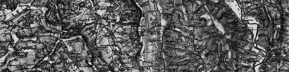 Old map of Wolferlow in 1899