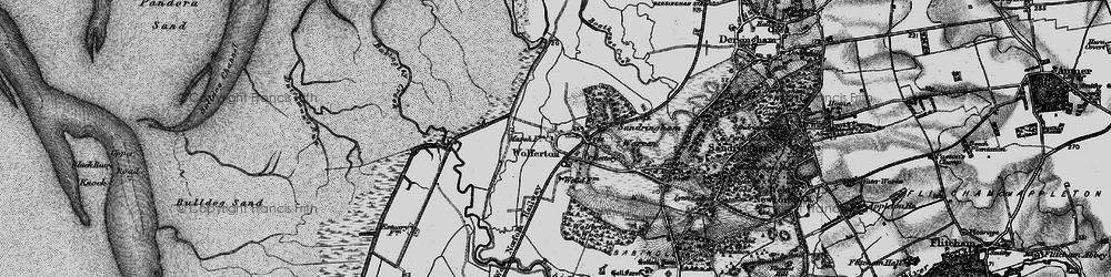 Old map of Wolferton in 1893