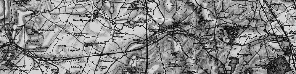 Old map of Wolfhampcote in 1898