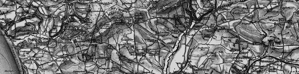 Old map of Wolfsdale Hill in 1898