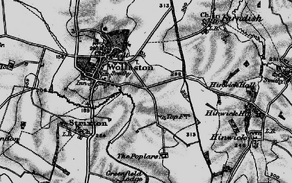 Old map of Wollaston in 1898