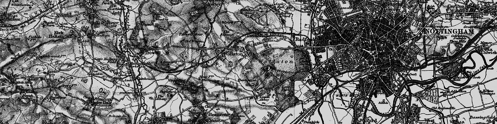 Old map of Wollaton in 1899