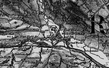 Old map of Lason Field in 1898