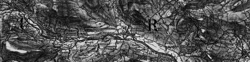 Old map of Wiserley Hall in 1898