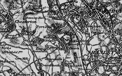 Old map of Wolstanton in 1897