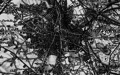 Old map of Wolverhampton in 1899