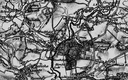 Old map of Wolverley in 1899