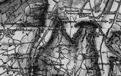 Old map of Limers Cross in 1898