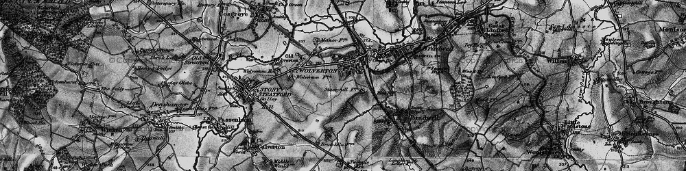 Old map of Wolverton in 1896