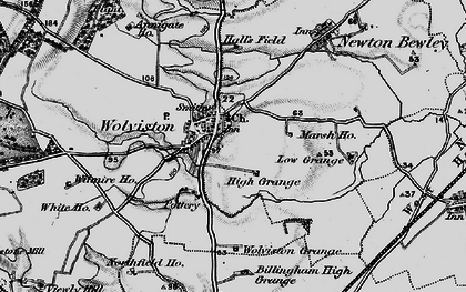Old map of Wolviston in 1898