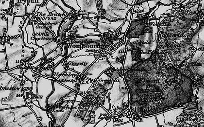 Old map of Wombourne in 1899