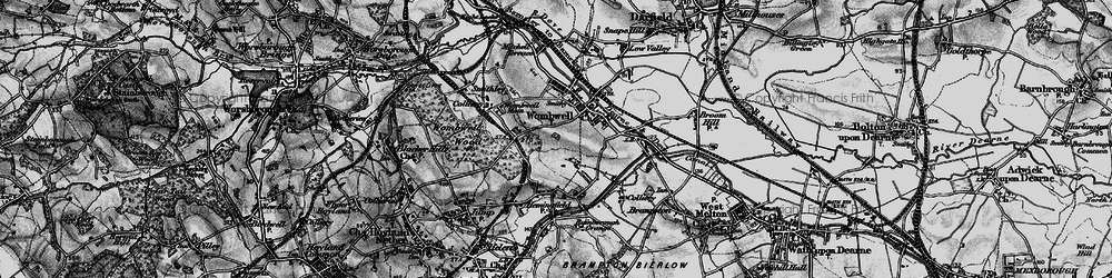 Old map of Wombwell in 1896
