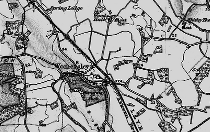Old map of Wormesley Park in 1895