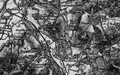 Old map of Wonersh in 1896