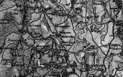 Old map of Wonson in 1898