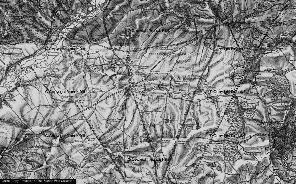 Old Map of Wonston, 1895 in 1895