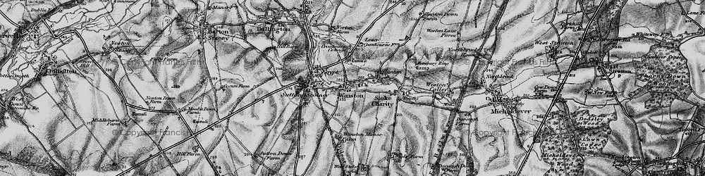 Old map of Wonston in 1895
