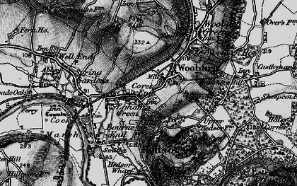 Old map of Wooburn in 1895