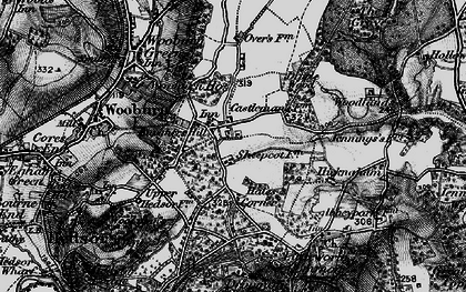 Old map of Wooburn Common in 1896