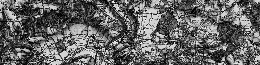 Old map of Wooburn Green in 1896