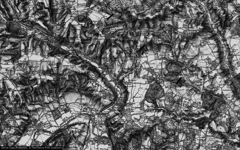 Old Map of Wooburn Moor, 1896 in 1896