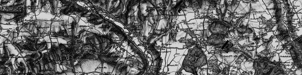 Old map of Wooburn Moor in 1896