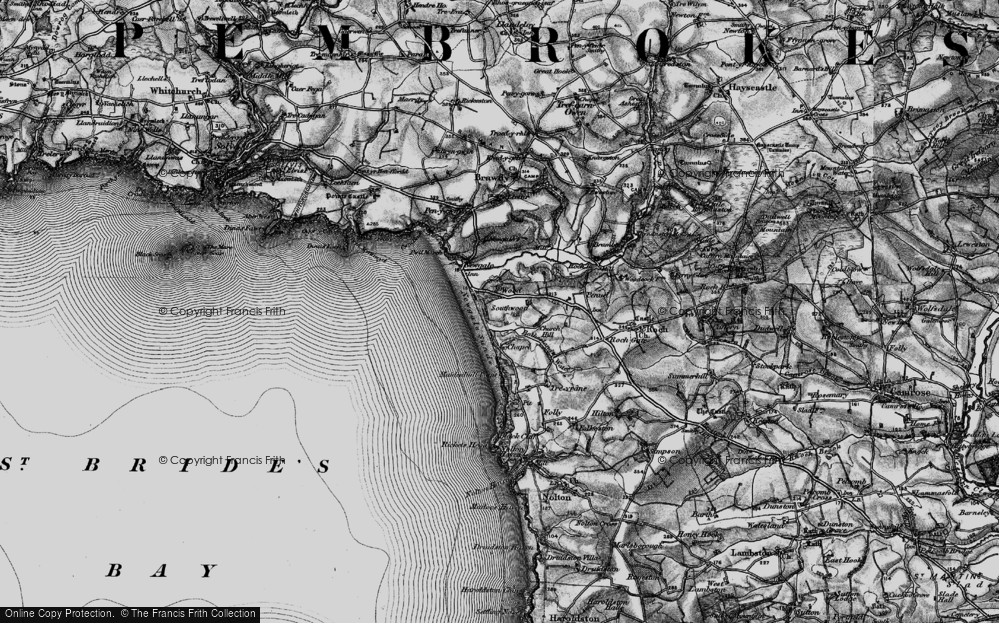 Old Map of Wood, 1898 in 1898