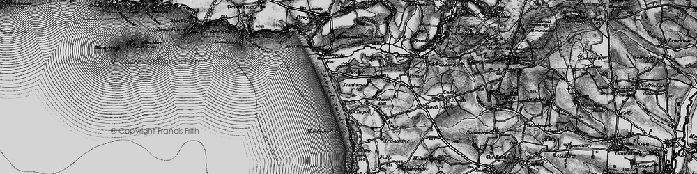 Old map of Wood in 1898