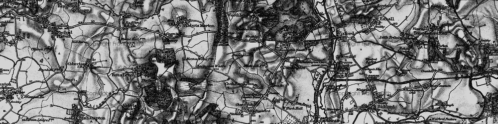 Old map of Wood Bevington in 1898