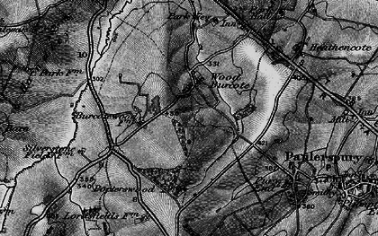 Old map of Wood Burcote in 1896
