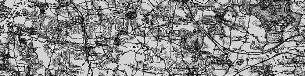 Old map of Wood Dalling in 1898