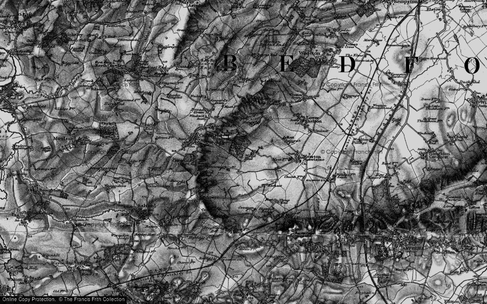 Old Map of Wood End, 1896 in 1896