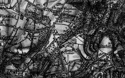 Old map of Ascot Heath in 1896