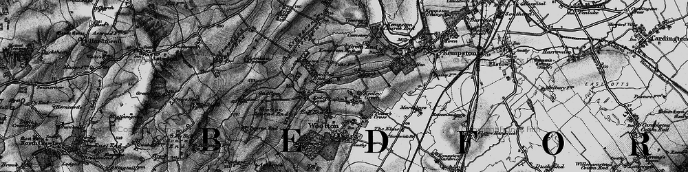 Old map of Wood End in 1896