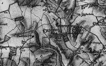 Old map of Wood End in 1898