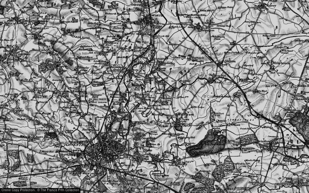 Old Map of Wood End, 1899 in 1899