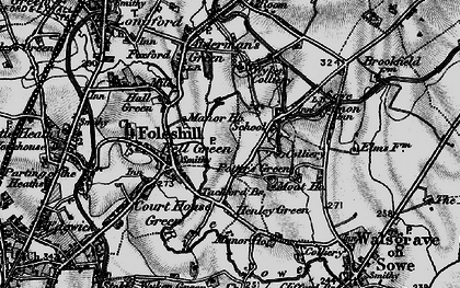 Old map of Wood End in 1899