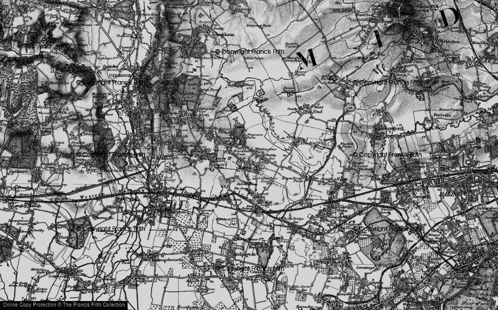 Old Map of Wood End Green, 1896 in 1896