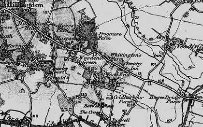 Old map of Wood End Green in 1896