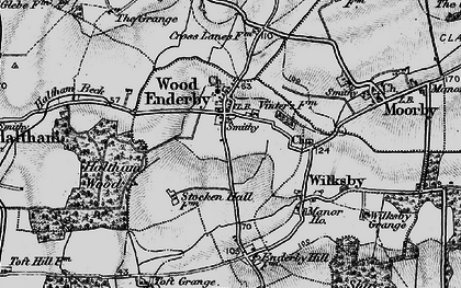 Old map of Wood Enderby in 1899