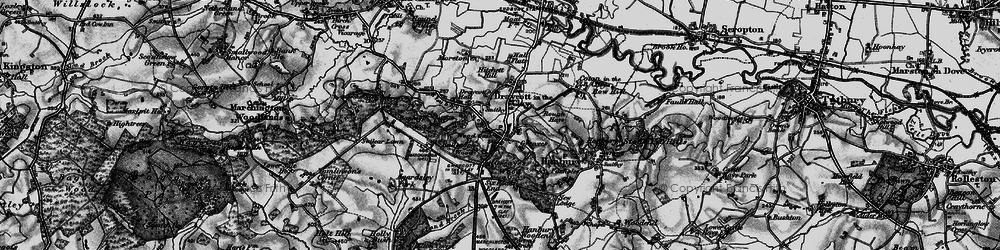 Old map of Wood Gate in 1897