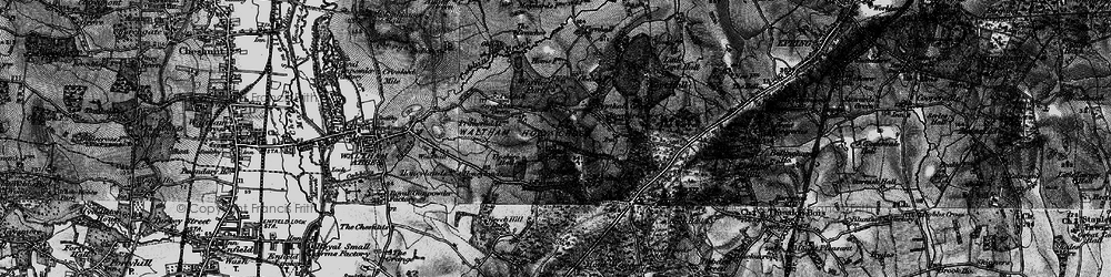 Old map of Wood Green in 1896