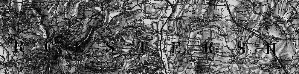 Old map of Woodhampton Ho in 1898