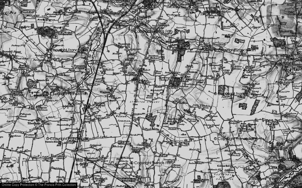 Old Map of Wood Green, 1898 in 1898