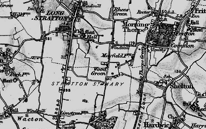 Old map of Wood Green in 1898