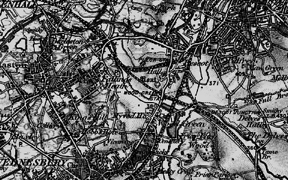 Old map of Wood Green in 1899