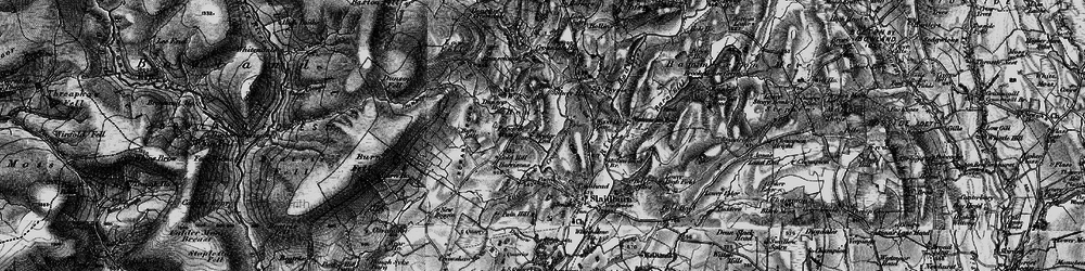 Old map of Wood House in 1896